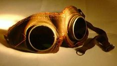 WW1 aviation goggles, plus scale drawings/templates at the link for those who want to make their own.