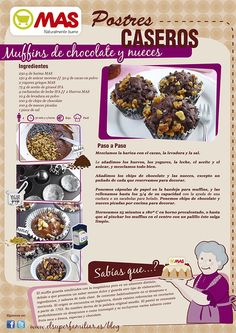 Muffins de chocolate y nueces