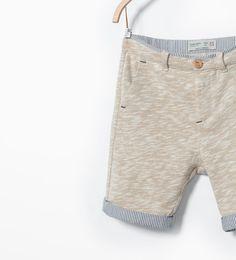 ZARA - KIDS - Contrasting striped bermuda shorts