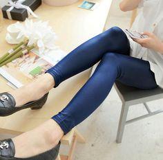 Hot Sale New 2016 Fashion women Capris Plus Size S-XXL PU imitation Leather Patchwork Leggings women Pants