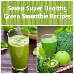Seven Nutribullet Green Smoothie Recipes. These are super healthy and great for weight loss!  #smoothies #recipes #nutribullet