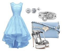 Light Blue Dress Look by klara-proch on Polyvore featuring Valentino, BERRICLE and Shoreditch