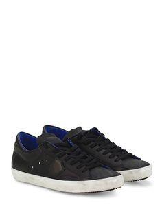 PHILIPPE MODEL PARIS - Sneakers - Uomo - Sneaker in pelle con logo su lato esterno e suola in gomma. Tacco 25. - BLACK - € 242.00