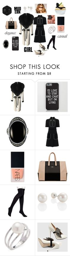 """""""Night Time Fall Dresses"""" by phatblapuckat ❤ liked on Polyvore featuring Tom Ford, Le Vieux, Gucci, Swissco, NARS Cosmetics, La Perla, HUE, Baggins, chic and fur"""