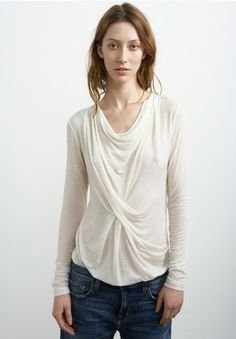 Autumn Gauze Drape Top. Graham & Spencer Fall 2013. Ideal Girl, Simple Style, My Style, Princess And The Pea, Graham Spencer, Tee Design, Autumn, Fall, Fashion Inspiration