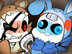 This is Undertale au and FNaf. What the heck kind of crossover is this. It's cute though. Undertale Comic, Undertale Fanart, Funny Undertale, Dbz, Undertale Pictures, Fnaf Characters, Toby Fox, Fandom Crossover, Sister Location