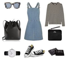 Pinafore by fashionlandscape on Polyvore featuring polyvore, мода, style, Topshop, Proenza Schouler, Converse, Mansur Gavriel, Acne Studios, Illesteva and NARS Cosmetics