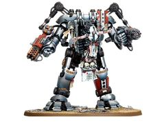 Interesting conversion, what looks like a Grey Knights Dreadknight with Penitent Engine controller. I boggle at the stats for this.