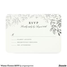 Winter Flowers RSVP