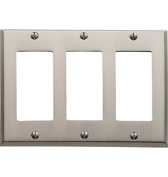 Lewis Triple GFCI Coverplate Hot-Forged Solid Brass Nice source of brushed nickel / chrome switchplates.  Available in many sizes & 7 finishes.