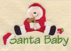 Santa Baby design (A2743) from www.Emblibrary.com