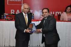 "Mr. Muhammad Javed Iqbal Rakizar, CEO & Founder, RAKIZAR giving souvenir to Chief Guest, Mr. Syed Saquib Mohyuddin, CEO, Business Support Fund (BSF) at RAKIZAR Summit on ""Entrepreneurs & Business Leaders"" on Thursday, January 24, 2013 at Royal Palm Golf & Country Club, Lahore  https://www.facebook.com/events/403424949732796/"