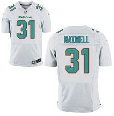 Men's Miami Dolphins #31 Byron Maxwell White Road NFL Nike Elite Jersey