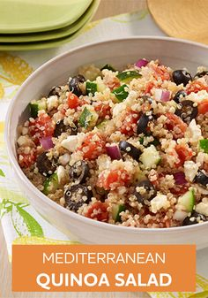 Your family will love this Mediterranean Quinoa Salad. And you'll love it too—because the recipe is so easy to make!