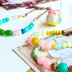 Summer colors necklaces , Available now !!
