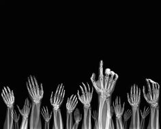 darkmindbrightfuture:  Hands Up - Nick Veasey