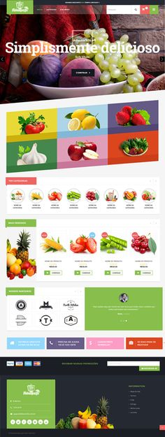Buy Flavours Fruit Store, Organic Food Shop WooCommerce Theme by ThemesMartGroup on ThemeForest. Flavours is a responsive Wordpress WooCommerce theme which help you to make the most out of using WooCommerce to powe. Web Design Tips, Web Design Inspiration, Page Design, Layout Design, Design Ideas, Book Design, Organic Food Shop, Site Vitrine, Ecommerce Shop