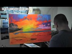 Oil Painting Demo: Sanna Sky - YouTube