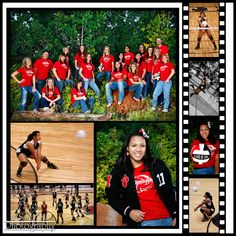 Team and Individual shots for Volleyball - great for Senior players