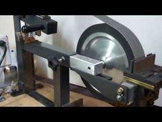 KNIFE HOLLOW GRINDING JIG on a belt grinder for knife making ,Pheer Grinders - YouTube