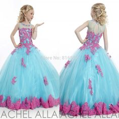 Find More Flower Girl Dresses Information about 2016 New Arrival Scoop Cute Kids Flower Girl Dresses Ball Gowns Appliques Tulle Girls Pageant Gown Vestido De Daminha QA565,High Quality gown fabric,China gowns for pregnant women Suppliers, Cheap gown prom from Julia wedding dress co., LTD on Aliexpress.com