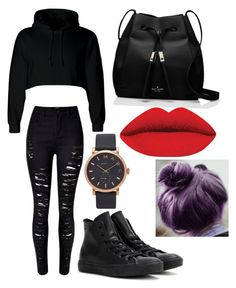"""""""Dauntless School"""" by faithlovexo on Polyvore featuring Converse, Kate Spade and Marc Jacobs"""