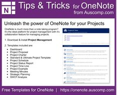 Tips and Tricks for OneNote users: Unleash the power of OneNote for your Projects. Please sha. - Tips and Tricks for OneNote users: Unleash the power of OneNote for your Projects. Please share. Computer Help, Computer Programming, Computer Tips, Project Management Templates, Management Tips, Business Management, One Note Tips, Onenote Template, Project Charter