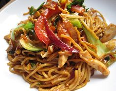 A Glug of Oil - Cooking Great Food Everyday is Easy: Oodles of Noodles Asian Recipes, Ethnic Recipes, Asian Foods, Best Wok, Tonkatsu Sauce, Chinese Dinner, Chicken Breast Fillet, Recipe Generator, Just Cooking