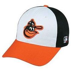 77cad6d8f3a05 MLB Cooperstown ADULT Baltimore ORIOLES Wht/Orng/Blk Hat Cap Adjustable  Velcro TWILL Throwback Great for local teams. Great for School Teams Great  for ...