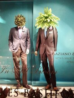 Gaziano window display in San Francisco illustrates the current surrealist trend in fashion. Image courtesy of Avinash Singhal.