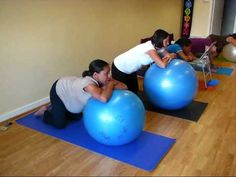 I just got one of these core strengthening balls and these were a few easy exercises to help prenatal.
