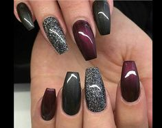 Nails trends The spring 2019 nail trends you need to know 00007 - - Spr. The spring 2019 nail trends you need to know 00007 - - Spring Nails - Get Nails, Fancy Nails, How To Do Nails, Colorful Nail Designs, Nail Art Designs, Winter Nail Designs, Nails Design, Nail Designs With Glitter, Red Glitter Nails