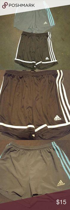 2 bundle pair Adidas used shorts Used walking shorts. Both pair to purchase adidas Shorts