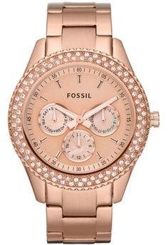 1bb8900f21bee4 Rose Watch Fossil - Montre femme - 139.00€ Accessoires Bijoux, Bijoux Mode,  Montre