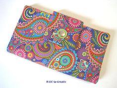"""Portemonnaie, Geldbörse """"Paislay"""" - bunt-pink von © MABE la Creativ  auf DaWanda.com"""