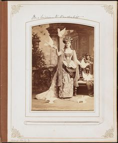 Mrs. William K. Vanderbilt (Alva Erskine Smith), as a Venetian princess based on a painting by Alexandre Cabanel, at the Vanderbilt Ball, 1883, photographed by José Maria Mora. It was this party — a housewarming for the Vanderbilts' new chateau at 660 Fifth Avenue (at 52nd Street -- now the 666 building) — that the 30-year-old Mrs. V. unceremoniously ended the reign of her elder, the Mrs. Astor (who was then 53), who also attended the party.
