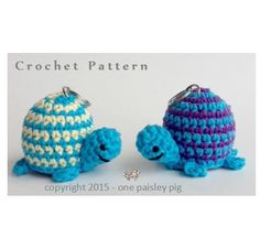 eos lip balm holder -turtle. Love these little guys. Such a fun and cute crochet pattern! (diy inspiration cool pattern)
