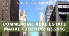 Commercial real estate investments in small cap markets continued to rise, and investment sales volume increased 8.4 percent compared to Q2 2015.