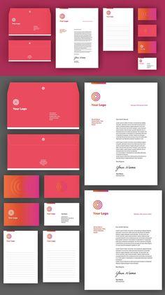 Business Stationery Set Invoice Design, Letterhead Design, Branding Design, Layout Template, Psd Templates, Brochure Template, Business Stationary, Business Branding, Business Folder