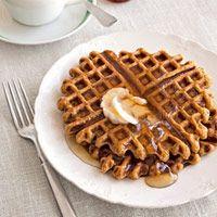 Pumpkin-Ginger Waffles via Country Living