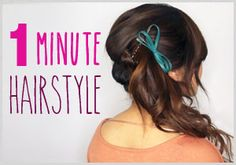 1 Minute Cute Hairstyle