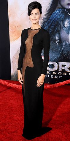 Jaimie Alexander Azzaro Couture Thor premiere in Hollywood