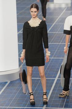 Chanel at Paris Fashion Week Spring 2013 - StyleBistro  Again, the necklace (OMG) & cuffs