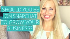 Ok so as you probably know Snapchat is a very hot, upcoming social media site. The questions I am receiving from the women entrepreneurs in my tribe is: Should I be on Snapchat to grow my business? In this video I break it down for you!