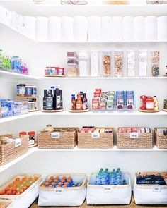 Fashion Look Featuring Container Store Kitchen Storage by thehomeedit - ShopStyle Pantry Closet Organization, Ikea Pantry, Small Pantry Organization, Kitchen Storage Hacks, Pantry Storage, Kitchen Pantry, Organized Pantry, Kitchen Organisation, Pantry Ideas