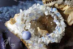 Chalcedony, clear quartz & opalite
