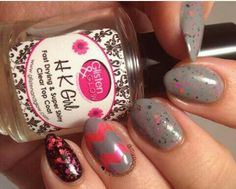 'mcspiration' and 'be my flamingo' by @mypolishedtips13 on Instagram #pipedreampolish #nails #nailpolish #indiepolish #glitter www.pipedreampolish.com