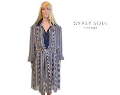 4adc51606949 set sail 70s striped dress sheer dress by  GypsySoulVintage  Vintage  Nautical Dress