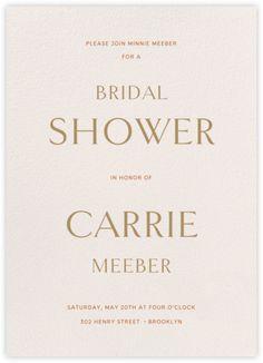 Bosco - Pavlova - online at Paperless Post Paperless Post, Modern Wedding Invitations, Pavlova, Rsvp, Bridal Shower, Place Card Holders, Cards, Shower Party, Bridal Showers