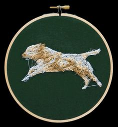 An Animated Embroidered Dog stop motion embroidery dogs animation